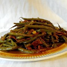 "Slow-Cooked Green Beans | ""Amazing! Sauce is incredible!"""