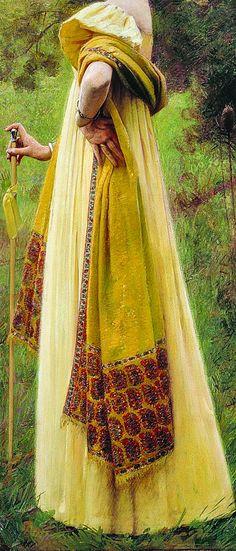 Charles Sprague Pearce (1851–1914) The Shawl, ca. 1900 (detail).