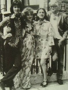 Ossie Clark, Celia Birtwell, David Hockney and Kay (Ossie's sister) On Ossie and Celia's wedding day
