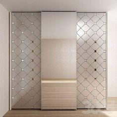 шкаф: двери зеркало с матированием