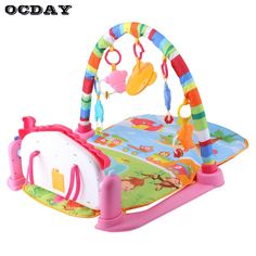 OCDAY 3 in 1 Baby Play Rug Develop Crawling Children's Music Mat with Keyboard Infant Fitness Carpet Educational Rack Toys pad - Kid Shop Global - Kids & Baby Shop Online - baby & kids clothing, toys for baby & kid Toddler Toys, Baby Toys, Baby Toy Storage, Baby Sense, Gear Best, Baby Shop Online, Musical Toys, Music For Kids, Pad