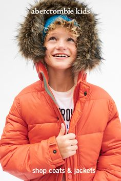 Our snuggly, stay-toasty coats of the season feature fun details and super-warm fits.