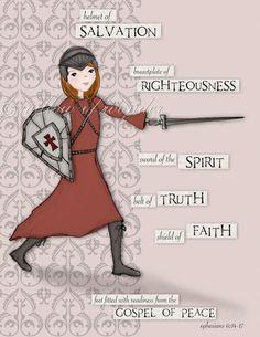 Our spiritual armor: we wrestle against principalities & powers