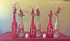 glitter-wine-bottles-with-letters