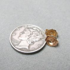 14k Yellow Gold Large Earring Clutch Backs Ear Nuts 6x5mm - pinned by pin4etsy.com