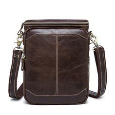 a10dee414233 Vintage Genuine Leather Men Bag Small Black Cowhide Leather Handbag Men  Messenger Bag Brand Male Shoulder Bag bolsa masculina-in Crossbody Bags  from Luggage ...