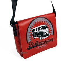 New Trending Shoulder Bags: VW Collection by BRISA VW T1 Tarpaulin Shoulder Bag Small - Red. VW Collection by BRISA VW T1 Tarpaulin Shoulder Bag Small – Red  Special Offer: $69.95  222 Reviews Tarpaulin Shoulder Bags with a vintage VW T1 Bus Print on the front. Includes padded compartment ideal for tablet-PCs. Material: Tarpaulin. Inner material: denim. Size: 28x23x7...