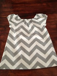 cute chevron peasant dress