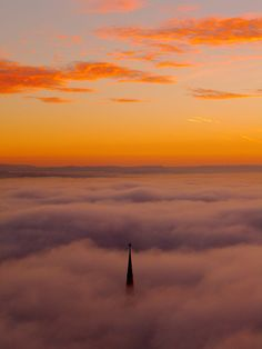 fog at sunrise - melbourne australia