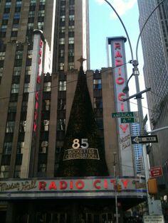 Happy Birthday! #RadioCity #Radio #city #music #hall #birthday #celebrations #happy #85 #NYC #NY #Manhattan