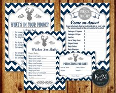 Little Deer or Buck Baby Shower Party Package/Wishes by KandMGoods