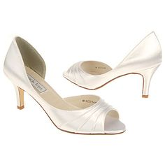 Touch Ups by Benjamin Walk Women's Nadia Shoe inch heel Famous Footwear W available Peep Toe Wedding Shoes, Bridal Wedding Shoes, Peep Toe Heels, Suede Heels, Shoes Heels, Great Hairstyles, White Women, Discount Shoes, Wedding Accessories
