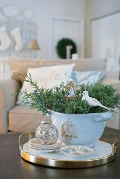 Dreaming of a French Blue Christmas… Part 1 of My Holiday Home Tour