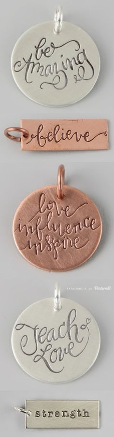 Inspiring #Quote Charms by FIVE - so many cute designs!