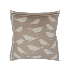 Natural Stone Bird Toss Pillow