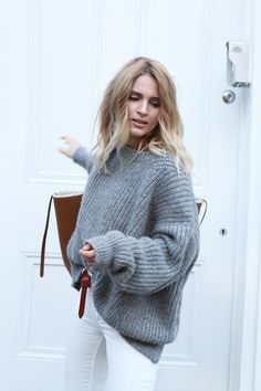 Le Fashion Blog The Perfect Chunky Sweater Mija Creators Of Desire Grey Ribbed Knit Celine Shearling Tote White Jeans photo Le-Fashion-Blog-The-Perfect-Chunky-Sweater-Mija-Creators-Of-Desire-Grey-Ribbed-Knit-Celine-Shearling-Tote-White-Jeans.jpg