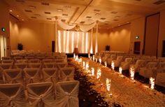 wedding aisle decorations candles Beautiful