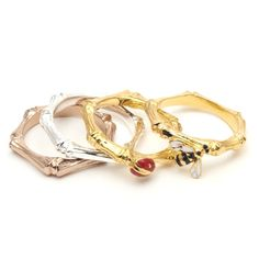 Just purchased these, so cute! 4 Stack Ring by Bill Skinner