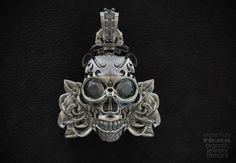 Skull and Roses Pendant Zbrush&Jewelry