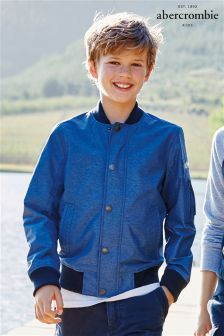 4f9e194d1f2f Blue Abercrombie & Fitch Bomber Jacket £60.50 Inspiration For Kids, Outdoor  Photography, Next