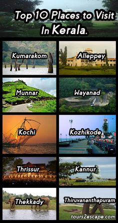 10 Best Places in Kerala #kerala #beaches   http://www.tours2escape.com/10-best-places-in-kerala/