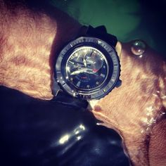 Wet wet wet! The Squale Master gets it's first swim! #womw #watches