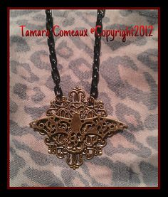 Handmade Victorian Bat Pendant Necklace by TheFleshArtist on Etsy, $14.00