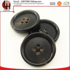 Wholesale 4 Holes Real Buffalo Horn suit buttons High end colthing decoration can lase logo