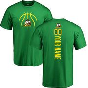 Oregon Ducks Basketball Personalized Backer T-Shirt - Kelly Green
