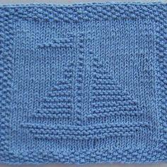 Sailboat Knit Dishcloth Pattern