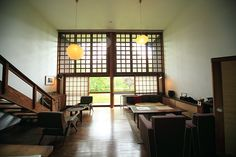 love the windows Japanese Architecture, Architecture Design, Future House, Japanese House, Japanese Style, Narrow House, Loft Spaces, Interior Inspiration, House Plans