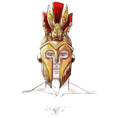 I prefer a more expressive  dynamic style but I grew up heavily influenced by classical culture fantasy art and mythology. Sometimes I don't mind to do some random. Like this helmet design. What do you  think? #egorodriguez #illustration #helmet