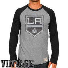Original Retro Brand Los Angeles Kings Raglan Long Sleeve T-Shirt - Ash