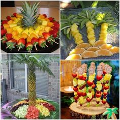 I enter here to find original ideas for a Hawaiian party. - I enter here to find original ideas for a Hawaiian party. I enter here to find original ideas for a Hawaiian party. Aloha Party, Hawaii Birthday Party, Luau Theme Party, Party Fiesta, Hawaiian Luau Party, Tiki Party, Hawaii Party Food, Luau Party Foods, Moana Birthday Party Ideas