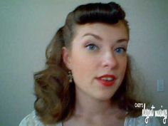 style faux bang and ponytail tutorial best for grad night :D 1950s Hair Tutorial, Bangs Tutorial, Ponytail Tutorial, 50s Hairdos, 50s Hairstyles, Barbie Ponytail, 1950s Ponytail, Retro Bangs, Faux Bangs
