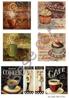 Decoupage: chá, café, doces, tortas - comprar fotos decoupage loja online cartão de decoupage Base de Dados de Arte