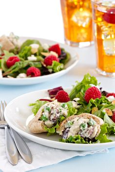 Mini Chicken Salad Sandwiches from @bakingaddiction