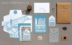 Letterpers_Letterpress_trouwkaart_Jelle_Rieke_strand_beach_klein