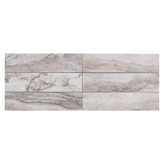 Travertino Grigio Porcelain Tile - 3in. x 14in. - 100221092 | Floor and Decor