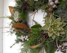 wreaths from garden