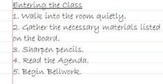 Classroom Procedures and the First Weeks of School