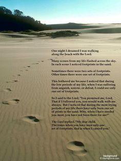 my favorite poem: footprints in the sand