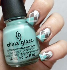 Argyle nails. For this to work right my nails would actually all have to be the same length for once... but I can dream