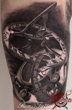 Sextant Compass Tattoo Sextant compass tattoo (remis