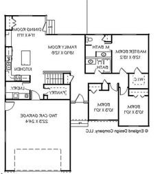 Small, Contemporary, Ranch House Plans - Home Design EDC-R1361 #...