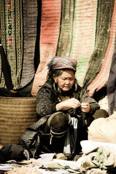 Beauty of an old lady from Sapa, Vietnam