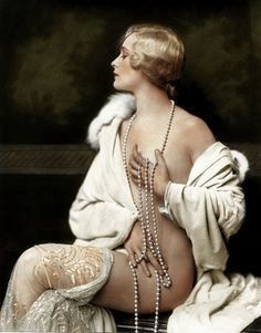 Ziegfeld Girl - 1920 - Photo by Alfred Cheney Johnston ~ I think this has been coloured.
