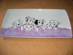 """Plat en porcelaine """"dalmatiens"""" : Cuisine et service de table par fournesien"""