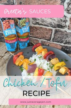 Slimming World kebabs with Chicken/Tofu and Geeta's Sauces Slimming World Chicken Dishes, Slimming World Diet, Slimming World Recipes, Kebab Recipes, Tofu Recipes, Quick Recipes, Quick Easy Meals, Syn Free Food, Mango Sauce
