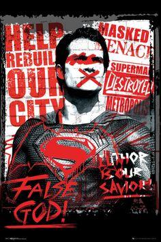 Batman Vs Superman Superman False God - Official Poster
